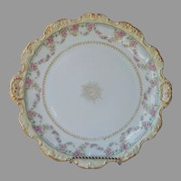 Limoges France Blakeman and Henderson Round Platter Antique