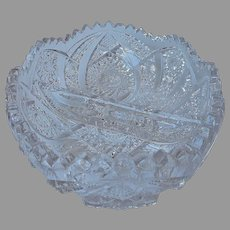 Divided Relish Dish Imperial Pressed Glass Vintage Holiday Table