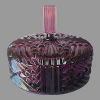 Viking Glass Amethyst Plum Yesteryear Candy Box Vintage Purple Divided