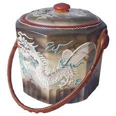 Dragon Ware Cookie Jar Vintage Japan Dragonware