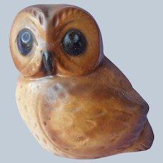 1970s Orzeck Terrastone Owl Figurine Vintage