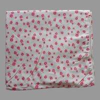 Duvet Cover Vintage Pure Cotton Metal Zipper Vintage Pink Roses 1950s