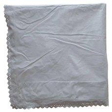 Antique Top Sheet Eyelet Lace Edge Pure Cotton Simple