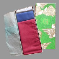 Vintage Men's Pocket Squares In Gimbels Christmas Box