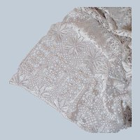 Antique German Lace Tablecloth Machined Bobbin Lace 86 x 72