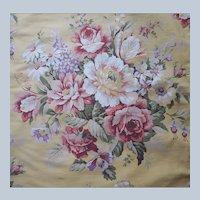 Vintage Ralph Lauren Sophie Brooke Flat Queen Sheet Heavy Cotton