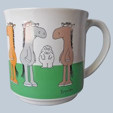 Sandra Boynton Nag Loving Ewe Cartoon Mug Vintage
