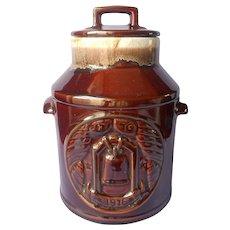 McCoy Cookie Jar Brown Drip 1776 Bicentennial 76 Vintage