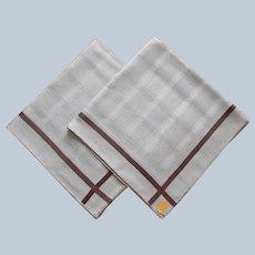 Men's Good Quality Swiss Cotton Handkerchiefs Handkerchief Vintage Unused