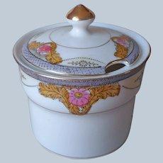 Nippon Marmalade Jam Pot Jar Antique Porcelain Noritake