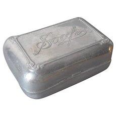 Aluminum Bath Soap Box Vintage Hinged