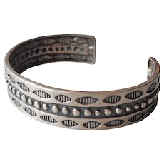 Carolyn Pollack Relios Sterling Silver Cuff Bracelet Stamped Style