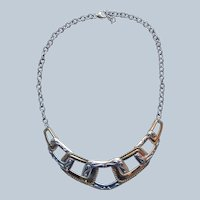 Carolyn Pollack Relios Sterling Silver Buckles Necklace Brass Extender Coronation