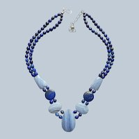 Lapis Blue Lace Agate Necklace Jay King Desert Rose Trading