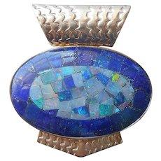 Opal Lapis Lazuli Sterling Silver Pendant Jay King Desert Rose Trading