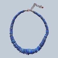 Carolyn Pollack Relios Lapis Lazuli Necklace Sterling Silver
