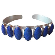 Lapis Lazuli Sterling Silver Cuff Bracelet Jay King Desert Rose Trading