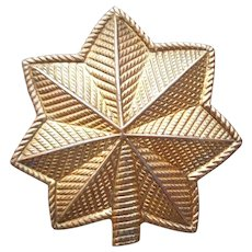 Gold Filled Oak Leaf US Army Major Pin Insignia Vintage
