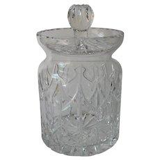 Classic Cut Glass Biscuit Barrel Jar Cookies Candy Vintage