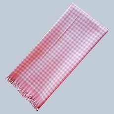 Vintage Unused Pink Gingham Check Kitchen Towel Cannon