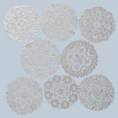 8 Lace Dessert Tea Plate Doilies Vintage Cotton Chemical Lace Vintage 8 Inch
