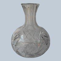 Classic ABP Cut Glass Carafe Antique American Brilliant Period