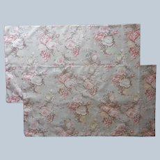 Ralph Lauren Charlotte Pillowcases Pair Standard All Cotton Vintage