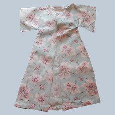 1910s Baby Doll Sacque Kimono Printed Cotton Fabric Aqua Pink Antique
