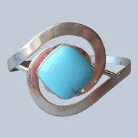 Jay King Turquoise Sterling Silver Cuff Bracelet Desert Rose Trading