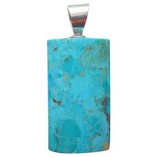 Jay King Turquoise Sterling Silver Pendant Desert Rose Trading