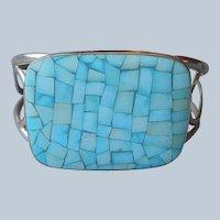 Jay King Turquoise Mosaic Sterling Silver Cuff Bracelet Desert Rose Trading