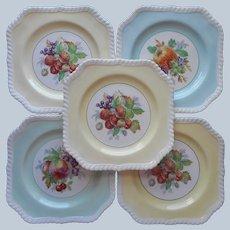 Johnson Brothers California 5 Square Plates Dessert Salad Vintage Fruit