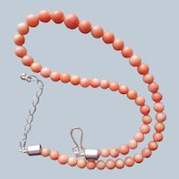 Jay King Coral Beads Sterling Silver Necklace Light Salmon Color Desert Rose Trading