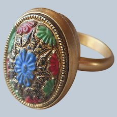 Sarah Coventry 1968 Light Of The East Ring Vintage Adjustable 5 6 7
