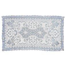Cream Lace Rectangular Doily Bread Tray Vanity Vintage Cotton