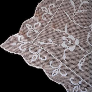 1920s Lace Tablecloth 84 x 63 Vintage A Bit TLC