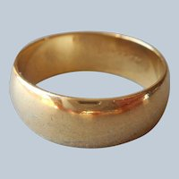 14K Gold Filled Wedding Band Ring Antique Size 5.75
