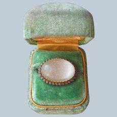 Edwardian Feldspar Frozen Mist Pin Niagara Falls Honeymoon Jewelry