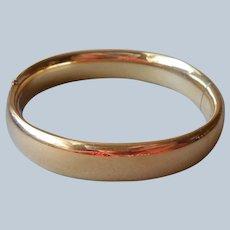 Classic Gold Filled Hinged Bangle Bracelet Vintage Winard