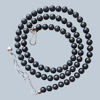 Jay King Black Stone or Coral Beads Necklace Sterling Silver Desert Rose Trading