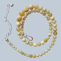 Jay King Yellow Opal Beads Necklace Graduated Faceted Desert Rose Trading