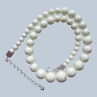 Jay King African Meadow Stone Necklace Sterling Silver Big Graduated Beads