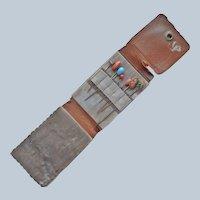 Stick Pins In Leather Travel Case Antique Stick Pin Stickpin