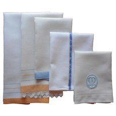 ca 1920 Towels Golden Yellow Blue White Antique Atchison Topeka Santa Fe Railway Company