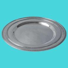Pierced Rim Silver Plated Tray Antique Wilcox Small Round