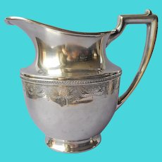 1920s Water Pitcher Silver Plated Vintage Meriden