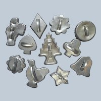 Aluminum Cookie Cutters 11 Vintage Small