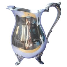 Towle Water Pitcher Vintage Silver Plated Vintage Shabby Elegant
