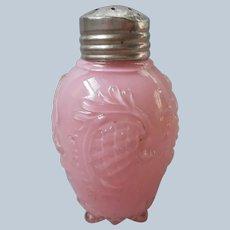 EAPG Pink Cased Glass Shaker Pineapple Single Salt Antique Glass