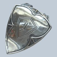 Napkin Clip Sterling Silver Monogram F Antique Webster